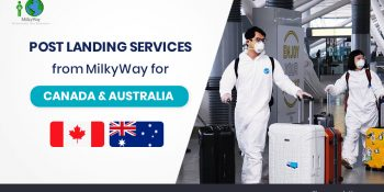 Post Landing services from MilkyWay for Canada & Australia